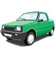 green pickup vector image vector image