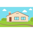 House in Nature Sky with Clouds vector image