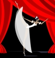 abstract ballet dancer in white vector image vector image