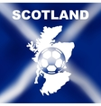 Scottish Abstract Map with Football vector image