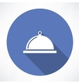 dish with lid icon vector image