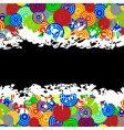 grunge boarder vector image