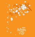hello autumn yellow image vector image