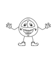 laugh emoticon sketch vector image