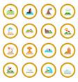 natural disaster icon circle vector image