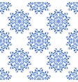 Seamless Blue Floral Mandala Pattern vector image