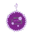Stylish with lilac flowers label Spring sale vector image