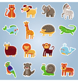 collection with 16 cartoon animals vector image vector image