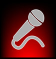 microphone sign postage stamp or old vector image