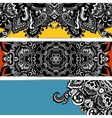 Abstract banner hippie vector image