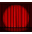 Spotlight on stage curtain vector image