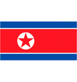 north korean flag vector image