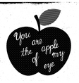 apple of my eye vector image