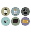 Every day carry detailed icons set vector image