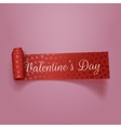 Beautiful Valentines Day red textile Ribbon vector image