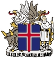 coat of arms of Iceland vector image