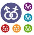 gender symbol icons set vector image