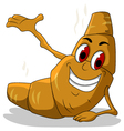 happy hot bread cartoon vector image