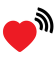 Heart with wave icon vector image