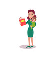 mother reading a book with baby in her arms vector image