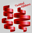 red ribbon vector image