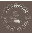 SPA themed with stones vector image