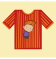t-shirt boy strips vector image