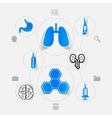 medicine sticker infographic vector image