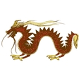 hand drawn colorful of dragon vector image