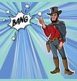 vintage retro clip art men cowboy bang vector image