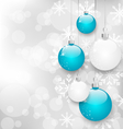 Christmas card with colorful balls and copy space vector image vector image