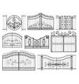 Iron Gates Icons vector image