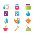 icon set gastronomy vector image vector image