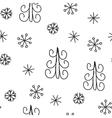 Snowflake and fir christmas tree Christmas vector image