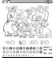 calculating game coloring page vector image vector image