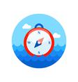 Compass icon Summer Marine vector image