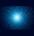 blue abstract digital numbers background design vector image