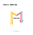 Creative letter M icon logo design vector image