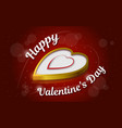 golden heart valentines day - background gift card vector image