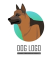 Shepherd Dog Logo on White Background vector image