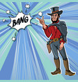 vintage retro clip art men cowboy bang vector image