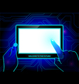 Virtual reality tablet vector image