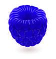 shiny blue raspberry isolated on white background vector image vector image