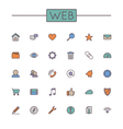 Colored Web Line Icons vector image vector image