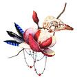 Magnolia and skull vector image