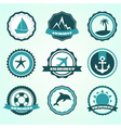 summer badges vector image