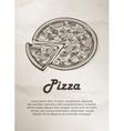 Pizza Vintage Menu Label Logo Frame Brochures vector image vector image
