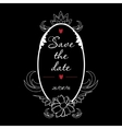 Save the Date vintage Frame Perfect for vector image