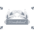 Alice Advetures in Wonderland Grey Card Pattern vector image