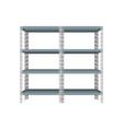 blank storage shelf vector image